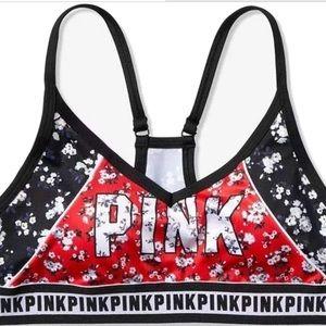 S PINK VS Ultimate Sports Bra Floral Black Red